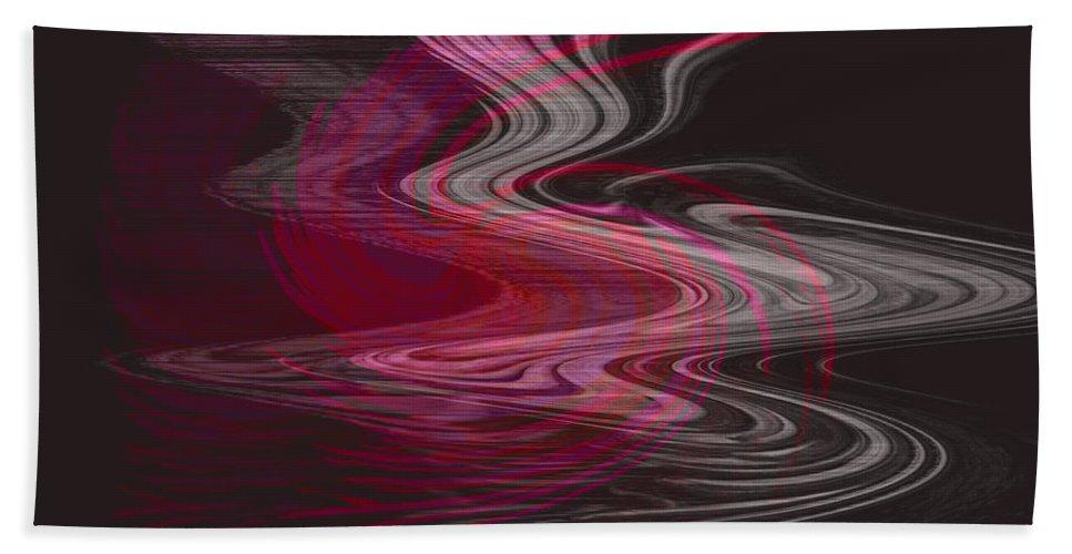 Abstract Beach Towel featuring the digital art Dragon Queen by Linda Sannuti