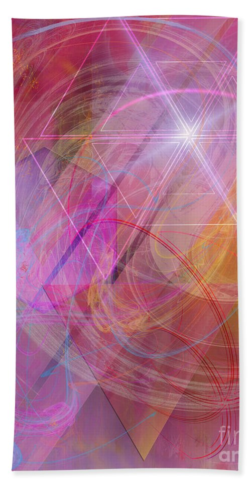 Dragon's Gem Beach Towel featuring the digital art Dragon's Gem by John Beck