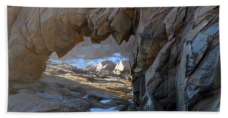 Arch Beach Towel featuring the photograph Dragons Teeth Salt Point California by Bob Christopher