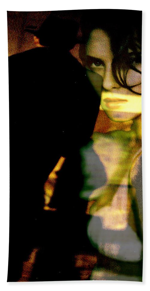 Mystery Beach Towel featuring the digital art Drama After Dark by Seth Weaver