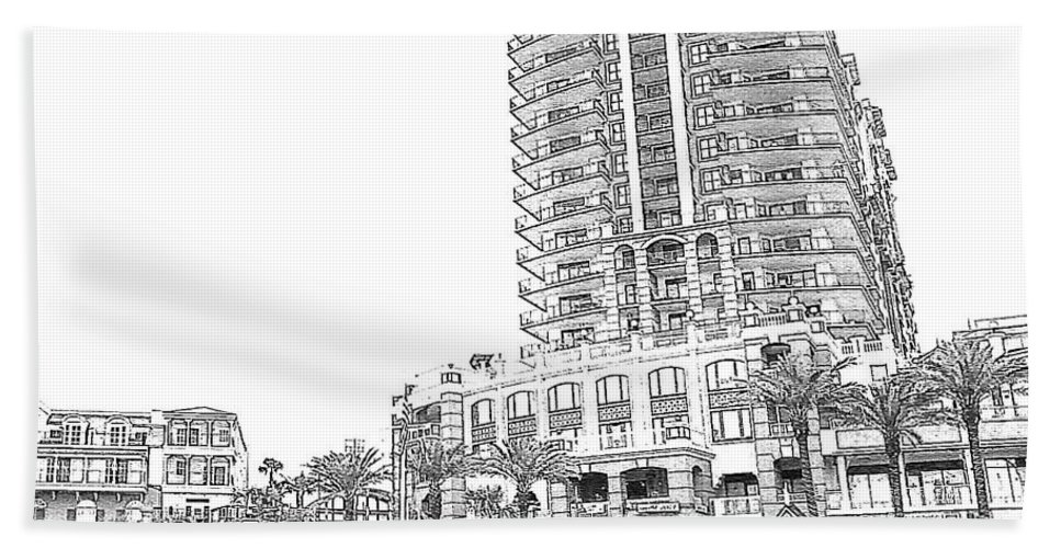 Drawing Beach Towel featuring the photograph Drawing The Building by Michelle Powell