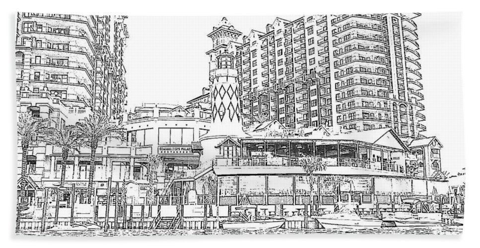 Drawing Beach Towel featuring the photograph Drawing The Harbor by Michelle Powell