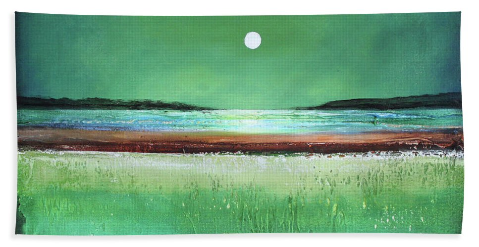 Modern Art Beach Towel featuring the painting Dream Day by Toni Grote