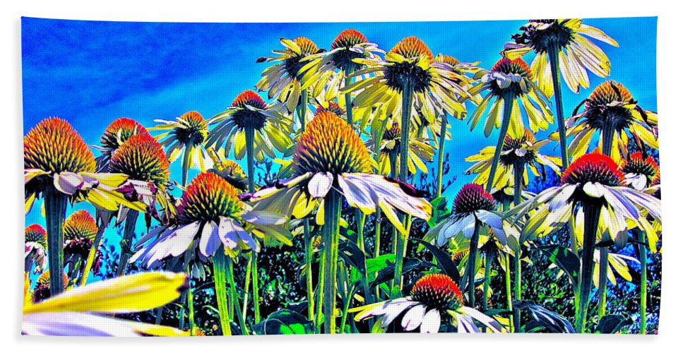 Photograph Of Field Of Flowers Beach Towel featuring the photograph Dream Field by Gwyn Newcombe