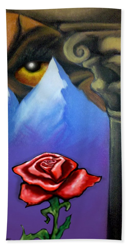 Dream Beach Towel featuring the painting Dream Image 5 by Kevin Middleton