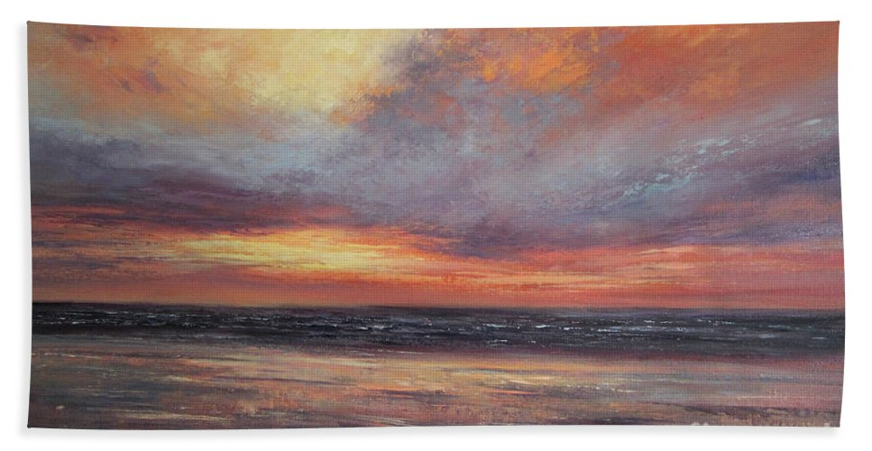 Seascape Painting Beach Towel featuring the painting Dreams Are Made Of This by Valerie Travers