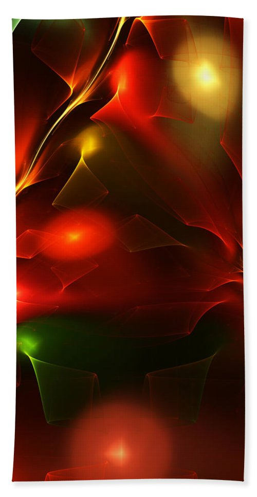 Digital Painting Beach Towel featuring the digital art Dreams of Christmas Past by David Lane