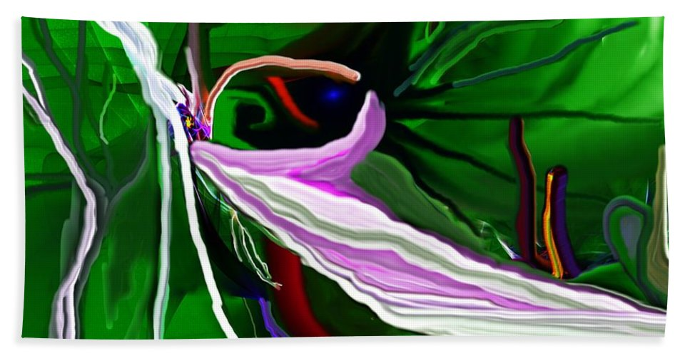 Dreamscape Beach Towel featuring the digital art Dreamscape 062410 by David Lane