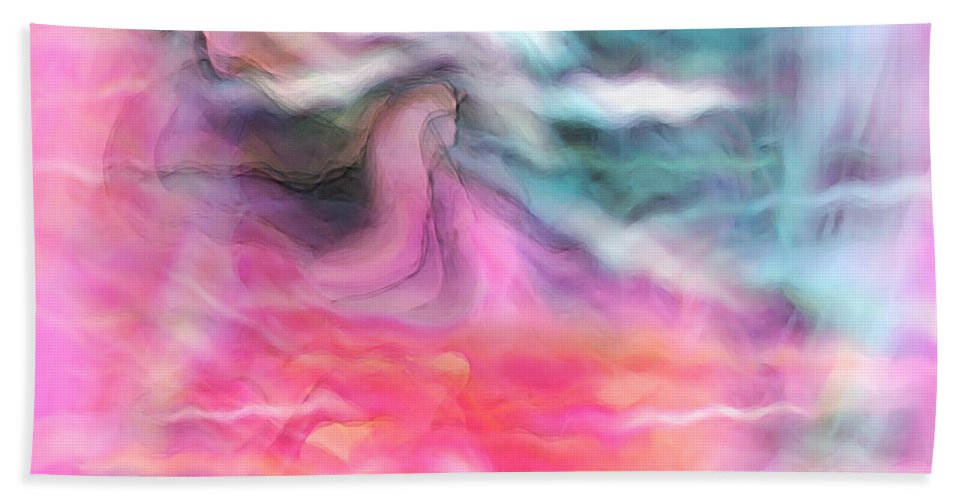Spiritual Art Beach Towel featuring the digital art Dreamscapes by Linda Sannuti