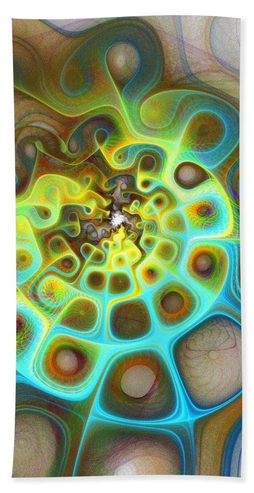 Digital Art Beach Sheet featuring the digital art Dreamscapes by Amanda Moore