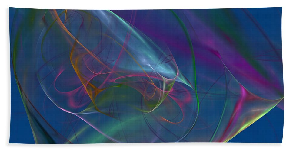 Blue. Dreamy Beach Towel featuring the digital art Dreamy Blue by Deborah Benoit