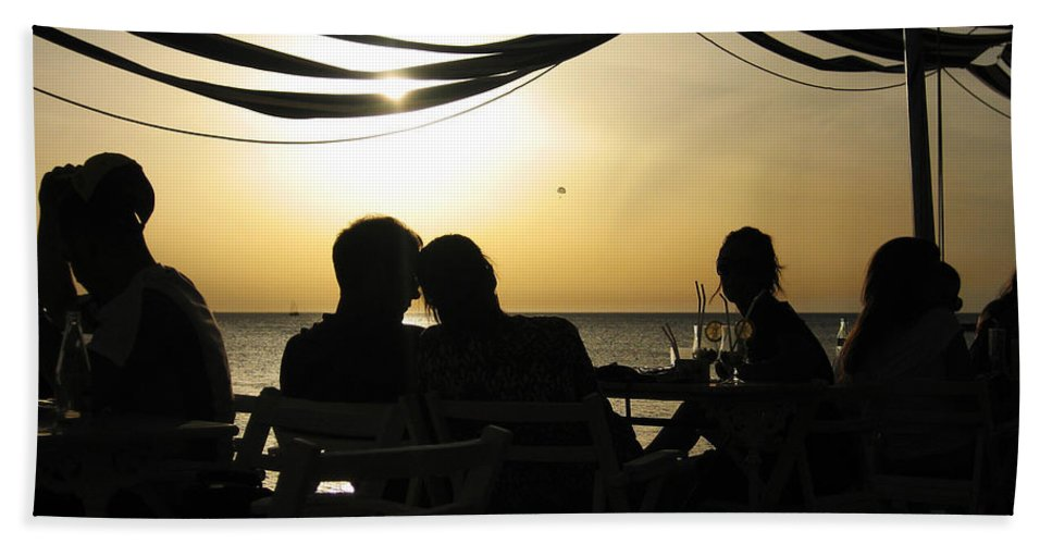 Shadow Beach Towel featuring the photograph Dreamy Sunset by Oliver Johnston