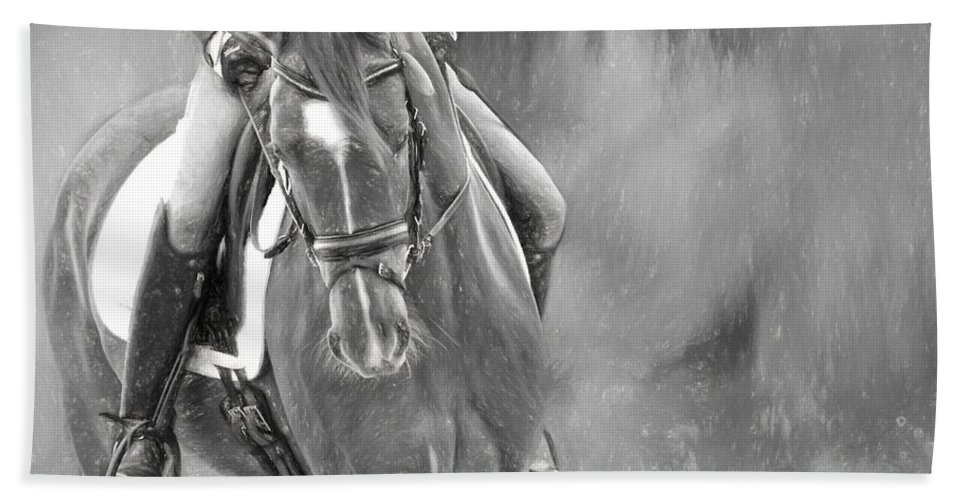 Alicegipsonphotographs Beach Towel featuring the photograph Dressage Hands by Alice Gipson
