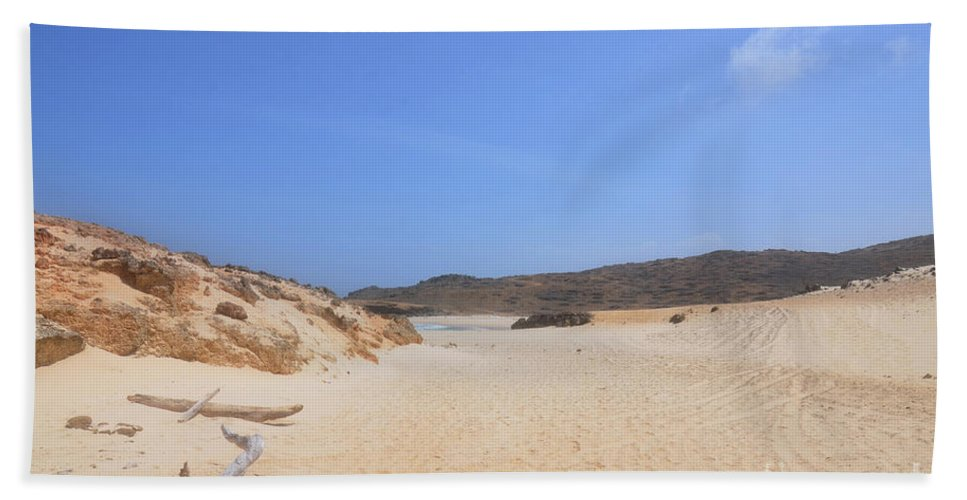 Driftwood Beach Towel featuring the photograph Driftwood Abandoned On A Beautiful Remote Beach In Aruba by DejaVu Designs