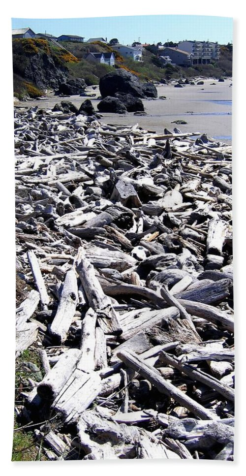Driftwood Beach Towel featuring the photograph Driftwood By The Ton by Will Borden