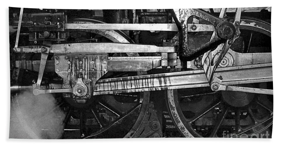 Trains Beach Towel featuring the photograph Driving Wheels by Richard Rizzo