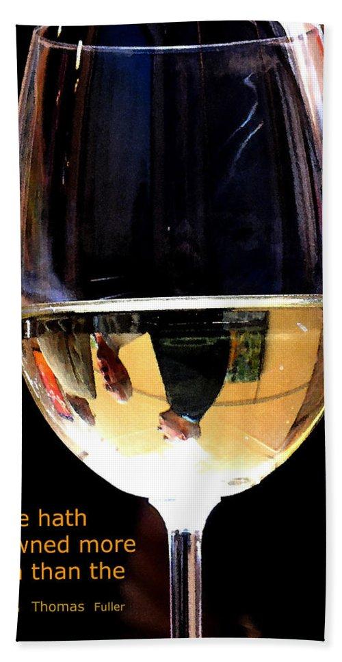 Wine Beach Sheet featuring the photograph Drowning by Ian MacDonald