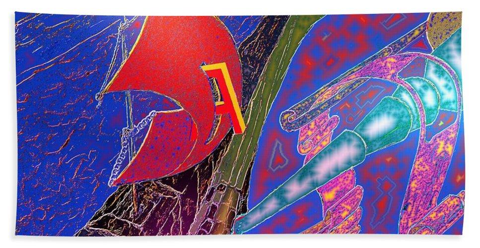 Drugs Beach Towel featuring the digital art Drugs by Helmut Rottler