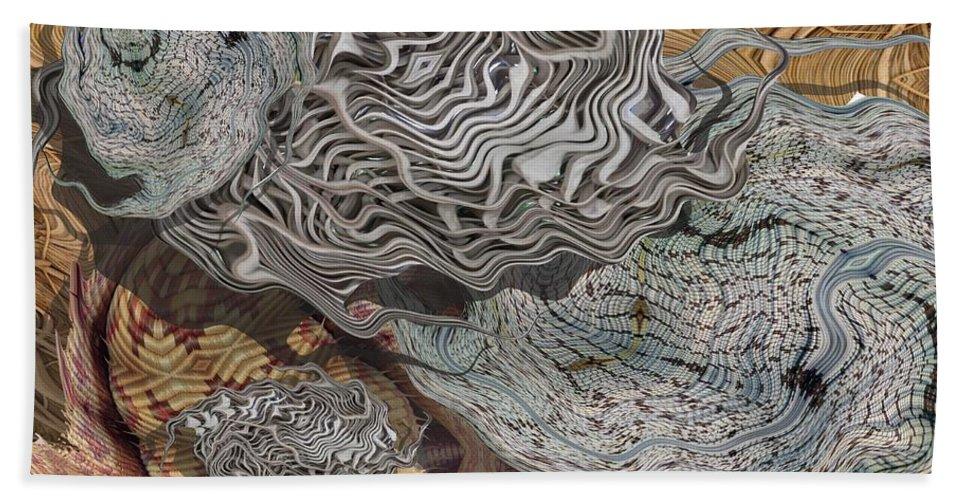 Digital Art Beach Sheet featuring the digital art Dry Organics by Ron Bissett