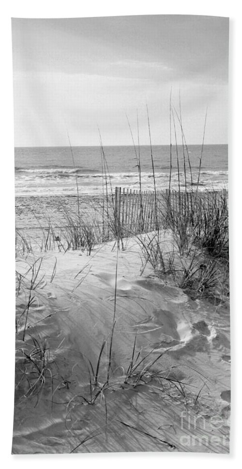 Beach Beach Towel featuring the photograph Dune - Black And White by Angela Rath