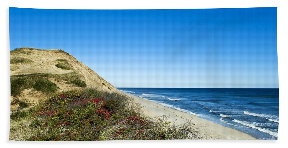 Beach Beach Towel featuring the photograph Dune Cliffs And Beach by John Greim