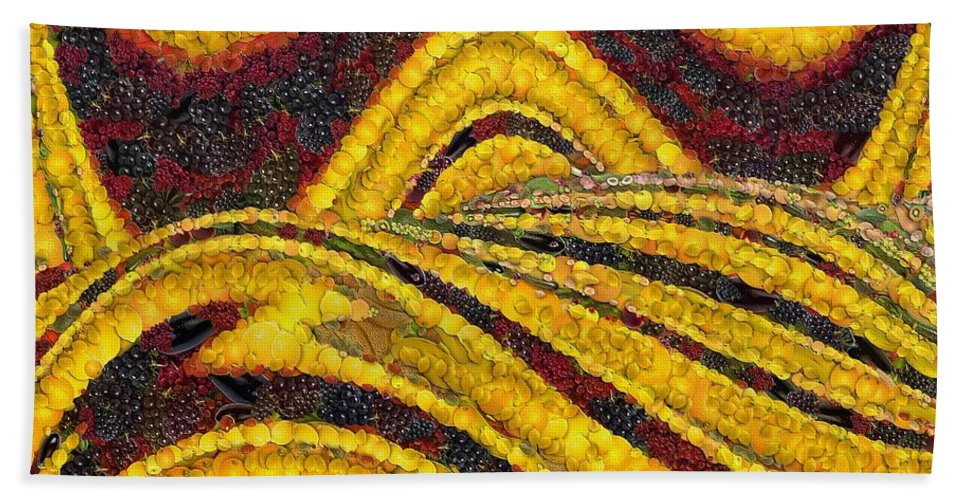 Dunes Beach Towel featuring the painting Dunes by Dragica Micki Fortuna