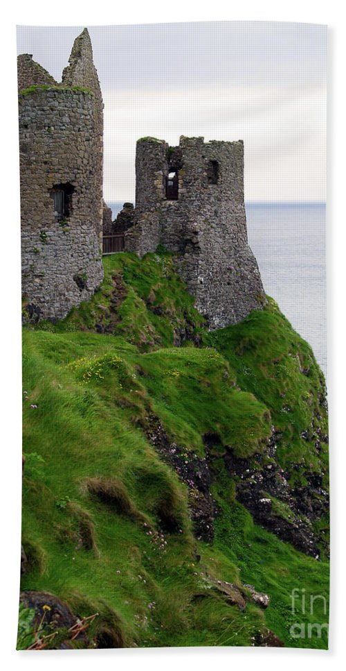 Castle Photography Beach Towel featuring the photograph Dunluce Castle II by Patricia Griffin Brett