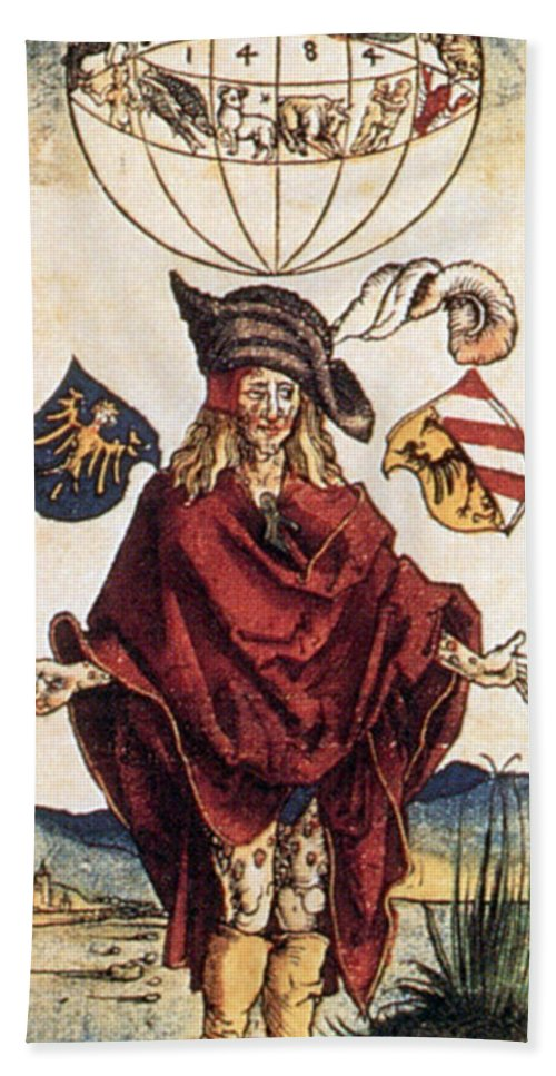 Illustration Beach Towel featuring the photograph Durers Syphilitic Man by Science Source