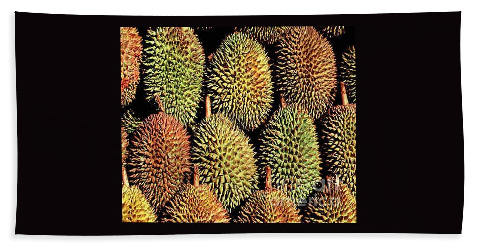Durian Beach Towel featuring the photograph Durian by Dragica Micki Fortuna