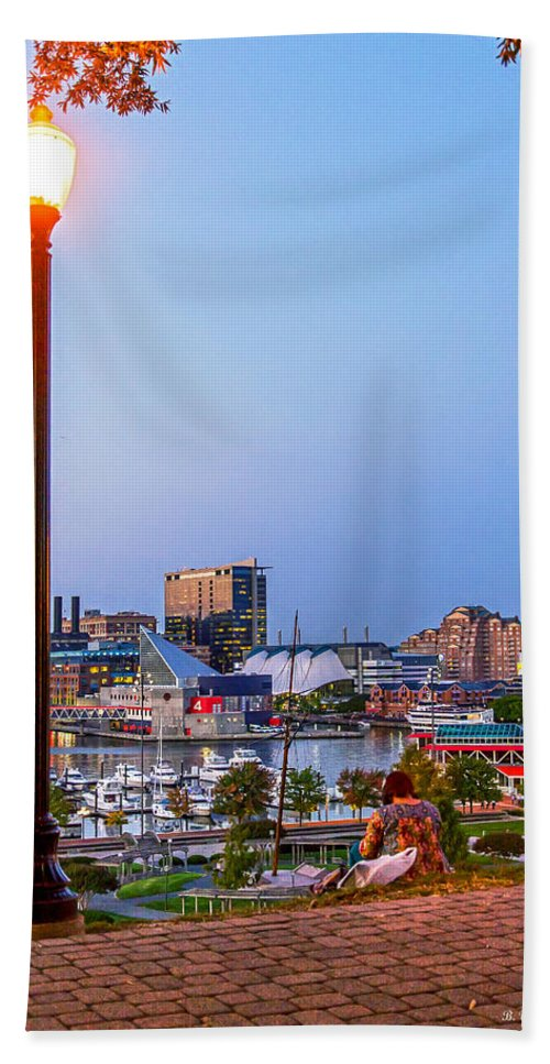 2d Beach Towel featuring the photograph Dusk At Federal Hill by Brian Wallace