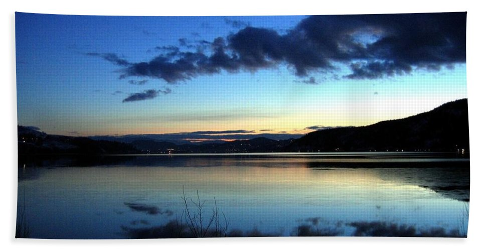 Dusk Beach Towel featuring the photograph Dusk In December by Will Borden