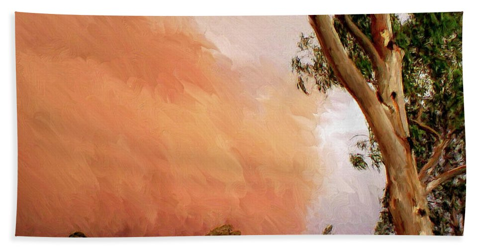 Dust Beach Towel featuring the painting Dust Storm by Dominic Piperata