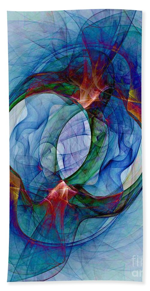 Dye Beach Towel featuring the digital art Dye In Solvent by Ron Bissett