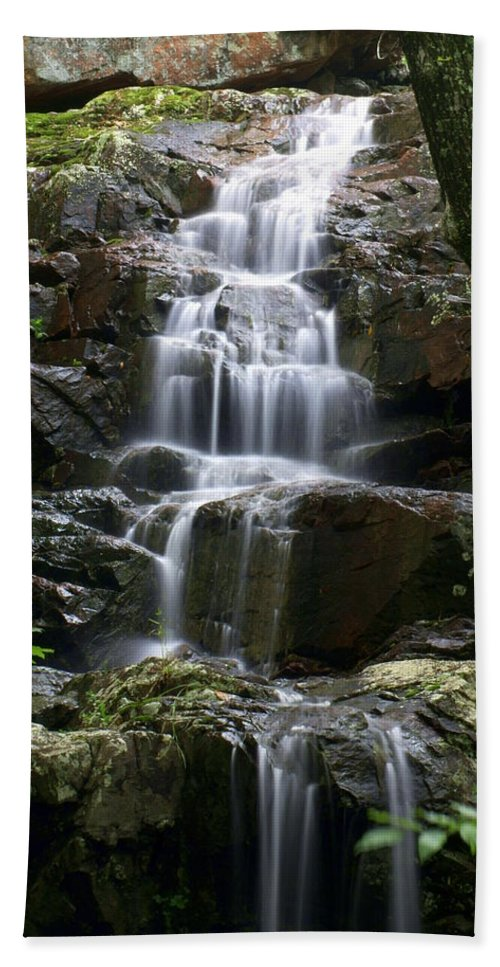 Waterfalls Beach Towel featuring the photograph E Falls by Marty Koch