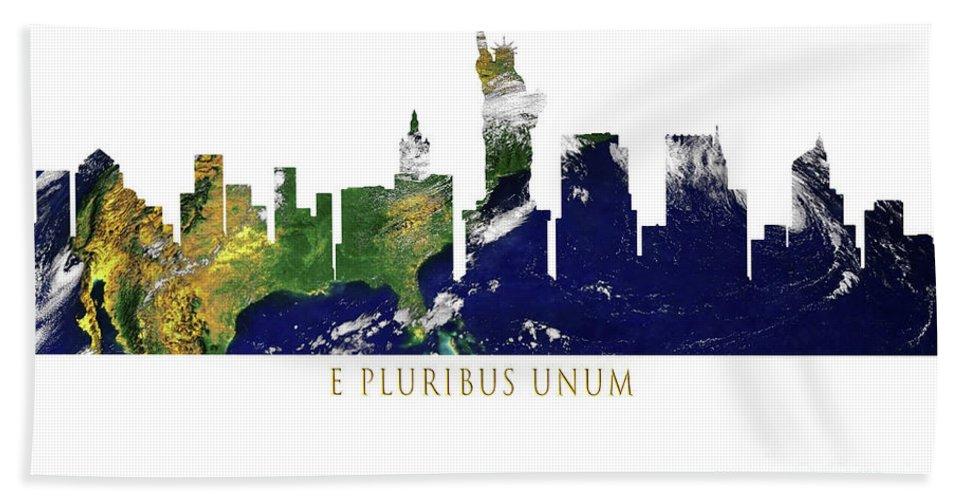 E Pluribus Unum Beach Towel featuring the photograph E Pluribus Unum by Mim White