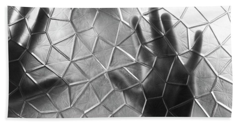 Black And White Beach Towel featuring the photograph E X E C U T I O N by Jorn Van Hezik
