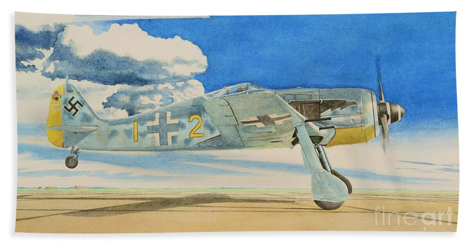 Luftwaffe Beach Towel featuring the painting Eagle's Flight by Oleg Konin
