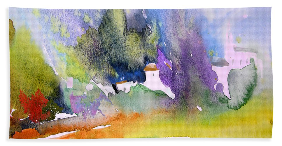 Nature Beach Towel featuring the painting Early Afternoon 07 by Miki De Goodaboom