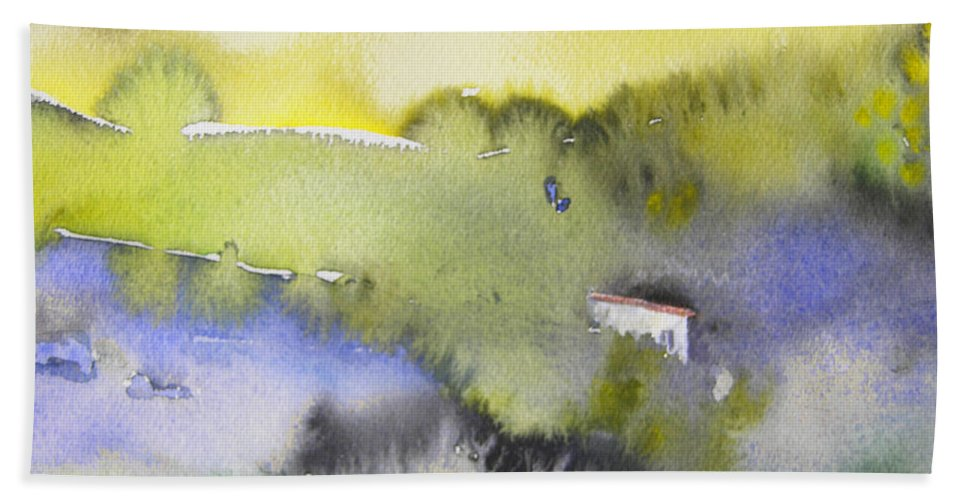 Watercolour Beach Towel featuring the painting Early Morning 04 by Miki De Goodaboom