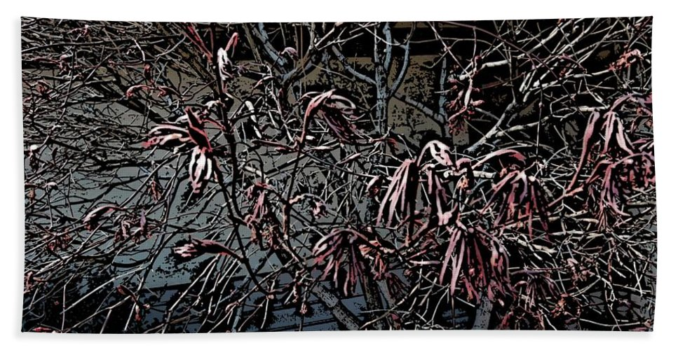 Digital Photography Beach Towel featuring the digital art Early Spring Abstract by David Lane