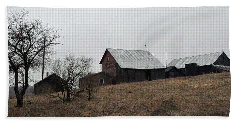 Farm Beach Towel featuring the photograph Early Spring Farm by Tim Nyberg