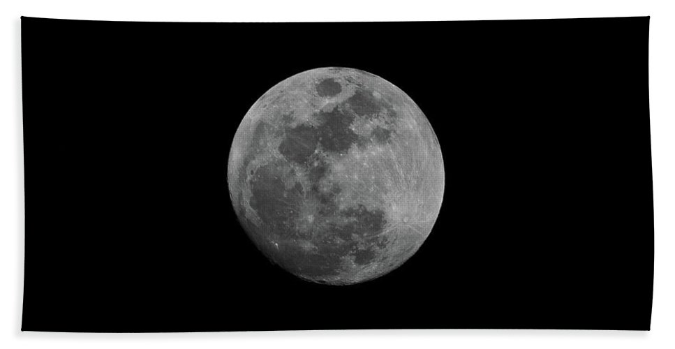 Nature Beach Towel featuring the photograph Early Spring Moon 2017 by Jason Coward