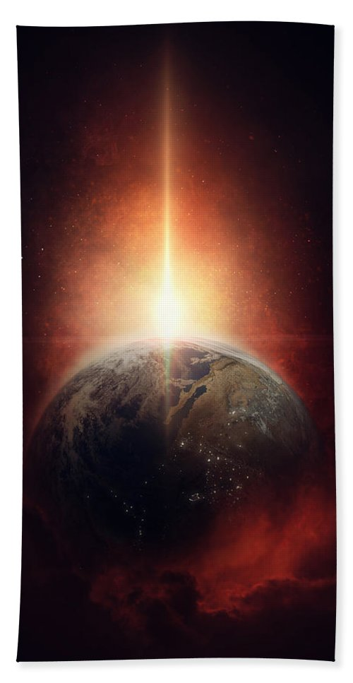 Earth Beach Towel featuring the photograph Earth Emerges by Fbmovercrafts
