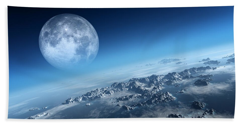 Earth Beach Towel featuring the photograph Earth Icy Ocean Aerial View by Johan Swanepoel