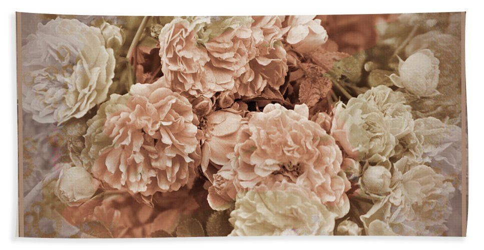 Rose Beach Towel featuring the photograph Earth Toned Roses by Karen Beasley