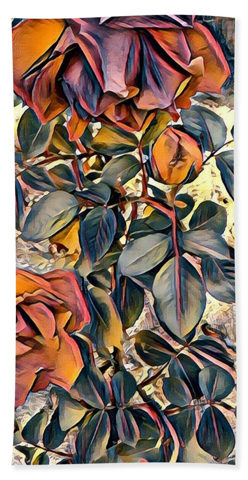 Roses Beach Towel featuring the digital art Earthly Bright by Joshua Massenburg