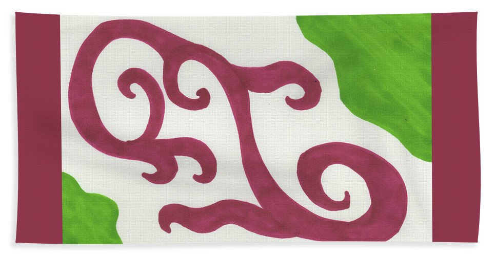Art & Collectibles Beach Towel featuring the painting Earths Floral Waves by Sindy Original