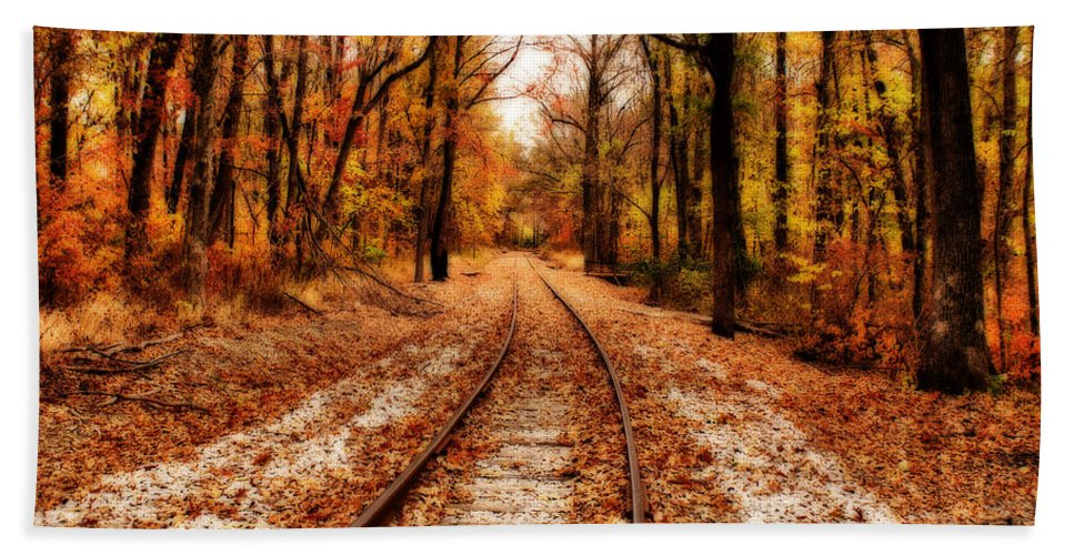 Scenery Beach Towel featuring the photograph Eastbound by Sandy Keeton