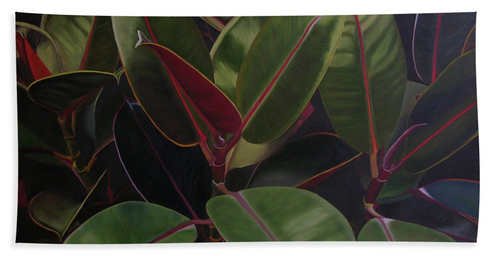 Landscape Beach Towel featuring the painting Easter Sunday by Thu Nguyen