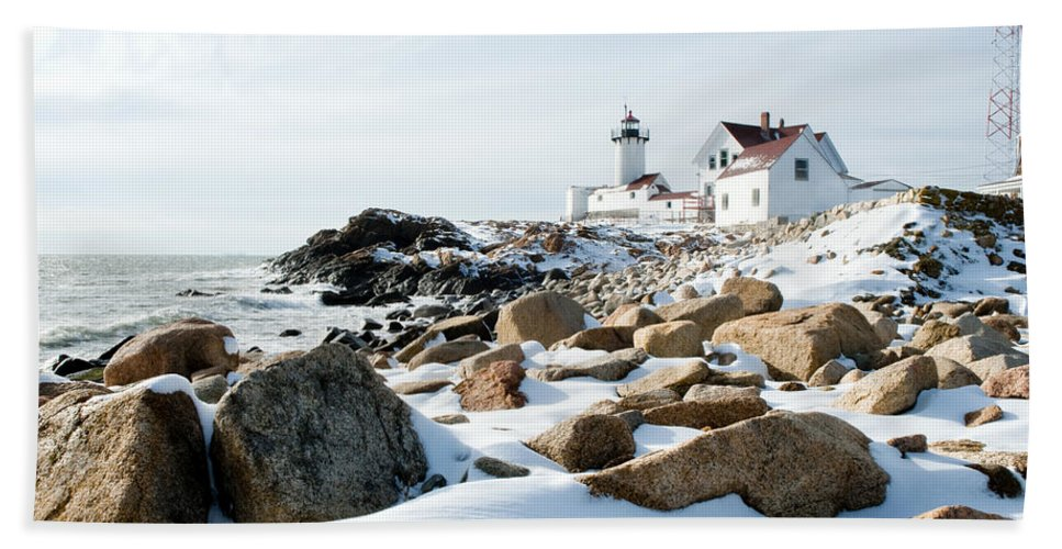 Gloucester Beach Towel featuring the photograph Eastern Point Light II by Greg Fortier